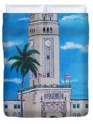 University Of Puerto Rico Tower Duvet Cover