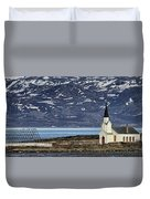 Unjarga-nesseby Church In Arctic Norway Duvet Cover