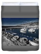 Unplugged At The Harbour - Toned Duvet Cover