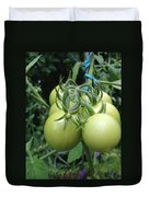 Unripe Cherry Tomatoes  Duvet Cover