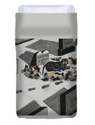 Unselfish Friend Even In Death Duvet Cover