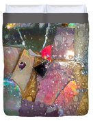 Untitled Abstract Prism Plates II Duvet Cover