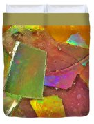 Untitled Abstract Prism Plates IIi Duvet Cover