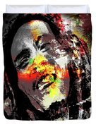 Untitled Reduction 3 Bob Marley Duvet Cover
