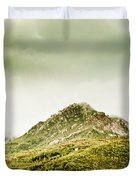 Untouched Mountain Wilderness Duvet Cover