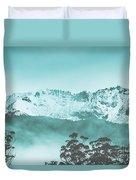 Untouched Winter Peaks Duvet Cover
