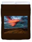 Unusual Clouds Catch Sunset Duvet Cover
