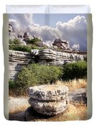 Unusual Rock Formations In The El Torcal Mountains Near Antequera Spain Duvet Cover