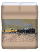 Up 844 Steams Over The Altamont Pass  Duvet Cover