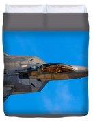 Up Close F-22 Raptor Duvet Cover