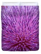 Up Close On Musk Thistle Bloom Duvet Cover