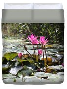 Up Close Water Lilies  Duvet Cover