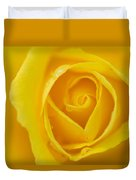 Up Close Yellow Rose Duvet Cover
