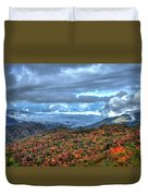 Up In The Clouds Blue Ridge Parkway Mountain Art Duvet Cover