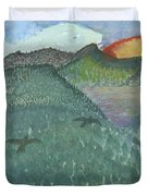 Up In The Mountains Duvet Cover