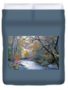 Up The Mountain We Go Duvet Cover