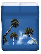 Up To The Sky Palms Duvet Cover