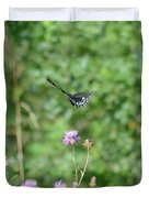 Up, Up And Away-black Swallowtail Butterfly Duvet Cover