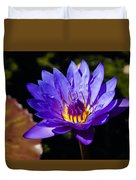Upbeat Violet Elegance - The Beauty Of Waterlilies  Duvet Cover