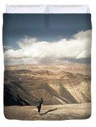 Uphill Battle Duvet Cover