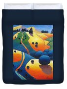 Uphill Climb Revisited. Duvet Cover