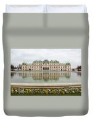 Upper Belvedere And Its Reflection  Duvet Cover