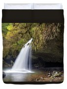 Upper Butte Creek Falls Closeup Duvet Cover