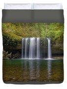 Upper Butte Creek Falls In Fall Season Duvet Cover