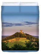 Upper Church With Two Towers In Banska Stiavnica, Slovakia Duvet Cover