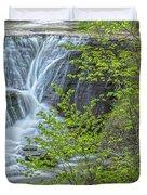 Upper Falls At Mine Kill State Park Duvet Cover