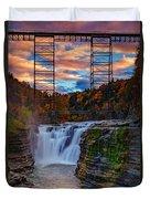 Upper Falls Letchworth State Park Duvet Cover