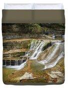 Upper Gorge Falls Of Enfield Glen In Treman State Park Duvet Cover