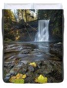 Upper North Falls In Autumn Duvet Cover
