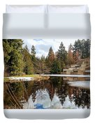 Upper Pond Reflections Duvet Cover