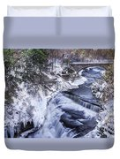 Upper Taughannock Winter Duvet Cover