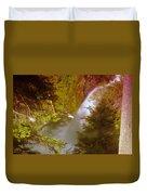 Upper Union Creek Falls  Duvet Cover