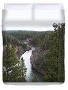 Upper Yellowstone Falls Duvet Cover
