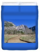 Upper Yosemite Fall And The Trail Duvet Cover
