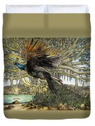 Uprooting A Banyan Tree Duvet Cover