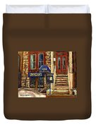Upstairs Jazz Bar And Grill Montreal Duvet Cover