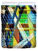 Urban Abstract 123 Duvet Cover