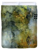 Urban Abstract Warm And Grey Duvet Cover by Patricia Lintner