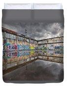 Urban Art Reflection Duvet Cover