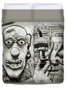 Urban Clown Duvet Cover