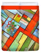 Urban Composition - Abstract Zoning Plan Duvet Cover