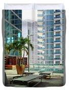 Urban Landscape, Miami, Florida Duvet Cover