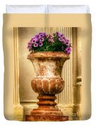 Urn With Purple Flowers Duvet Cover