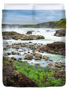 Urridafoss Waterfall And River Pjorsa In Iceland Duvet Cover
