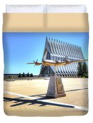 Us Air Force Academy Chapel Duvet Cover