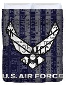 Us Air Force Logo Recycled Vintage License Plate Art Duvet Cover